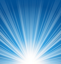 Abstract blue background with sunbeam vector