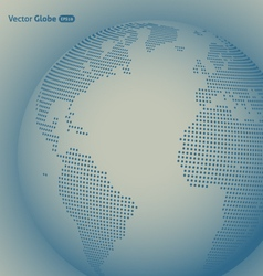 abstract dotted globe vector image vector image
