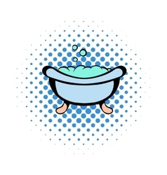 Baby bath comics icon vector