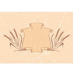 banner with wheat beige vector image vector image