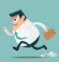 Businessman in hurry preview vector