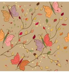 Butterflies leaves vector