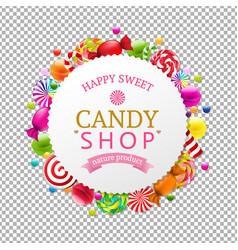 Candy shop banner vector