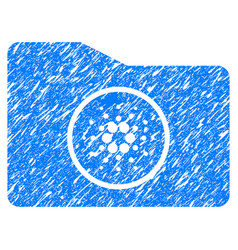 Cardano wallet icon grunge watermark vector