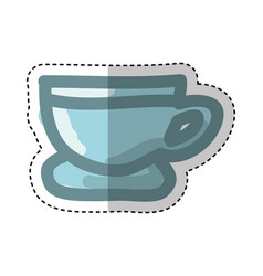 coffee cup silhouette isolated icon vector image vector image