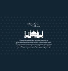 Collection stock of ramadan kareem style card vector