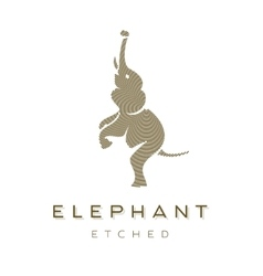 Elephant is completely engraved animal vector