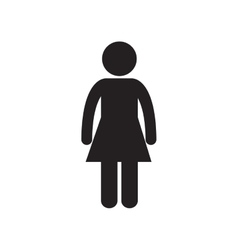 Female standing person adult pictogram vector