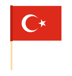 flag of turkey icon isolated vector image vector image