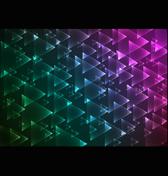 flat multi gradient geometric rectangle background vector image