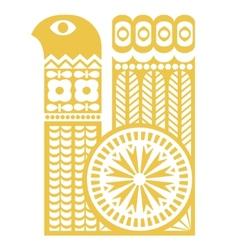 Folk bird silhouette vector image vector image
