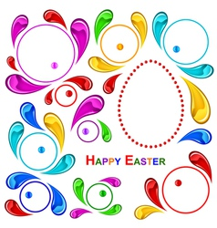 happy easter pattern vector image vector image