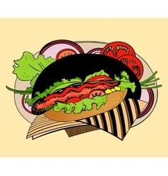Hot-dog vector