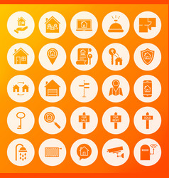 house solid circle icons vector image