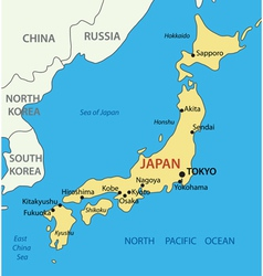 Japan - map vector image