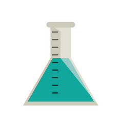 laboratory test tube chemistry vector image vector image