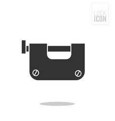 padlock flat black icon of lock isolated on white vector image vector image