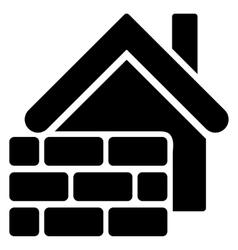 Realty Brick Wall Flat Icon vector image