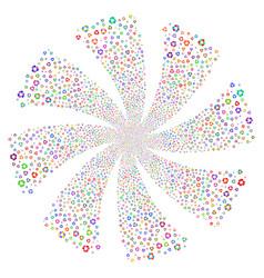 Recycle arrows fireworks swirl flower vector