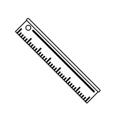 Ruler stationery tool icon image vector