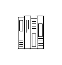 shelf books icon vector image