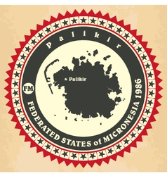 Vintage label-sticker cards of federated states of vector