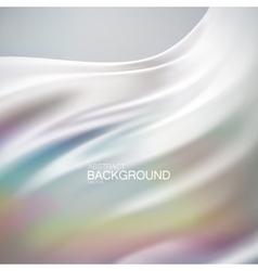 White iridescent silk fabric vector