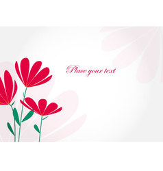 00202 invitation card with flowers vector