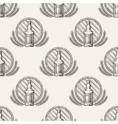Whisky seamless pattern vector