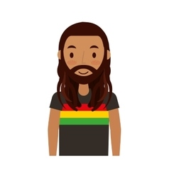 reggae man character icon vector image