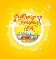 Summer travel concept vacation travelling summer vector