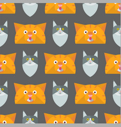 Cats cute animal seamless vector