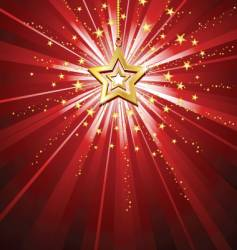 Golden star background vector