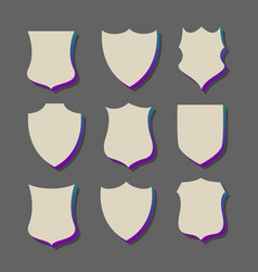 3d style badges and labels vector