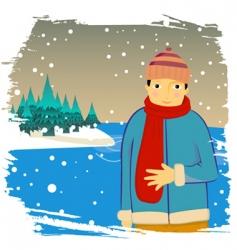 winter man vector image