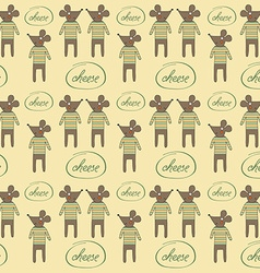 Seamless pattern with mice vector