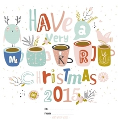 Christmas Calligraphic And Typographic Background vector image