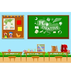 Classroom full of objects vector