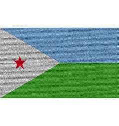Flags djibouti on denim texture vector