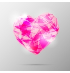 Future geometric heart abstract template vector