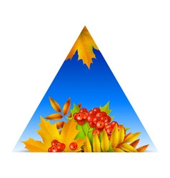 Triangular autumn background vector