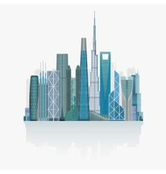 Modern city skyline high detailed vector