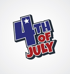 4th of july sign vector