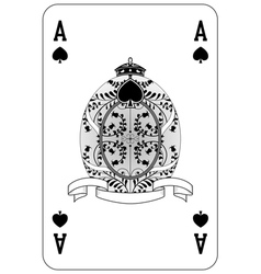 Poker playing card ace spade vector