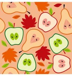 autumn fruit seamless vector image