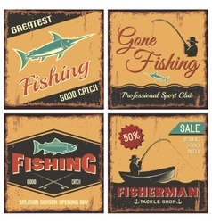 Fishing vintage style concept vector
