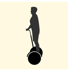 a silhouette of a man resting and fast rides on vector image