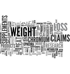 Are weight loss supplements useful text vector
