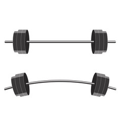 barbells isolated on white background vector image vector image