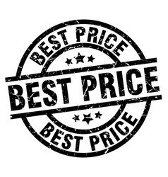 Best price round grunge black stamp vector